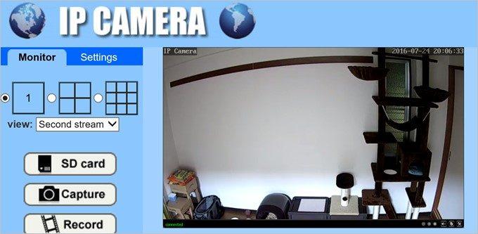 WEBブラウザーの監視画面