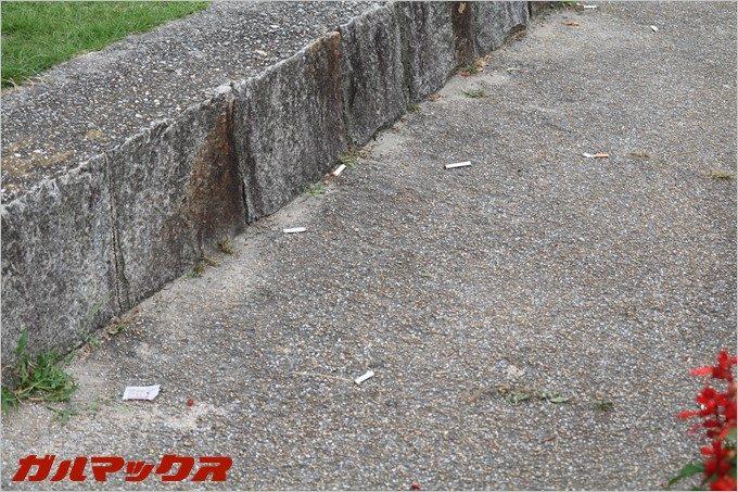 鶴舞公園で散見されたタバコの吸殻