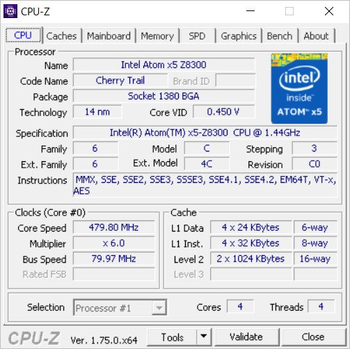 「Jumper Ezbook 2」のCPUは4世代AtomのX5-Z8300