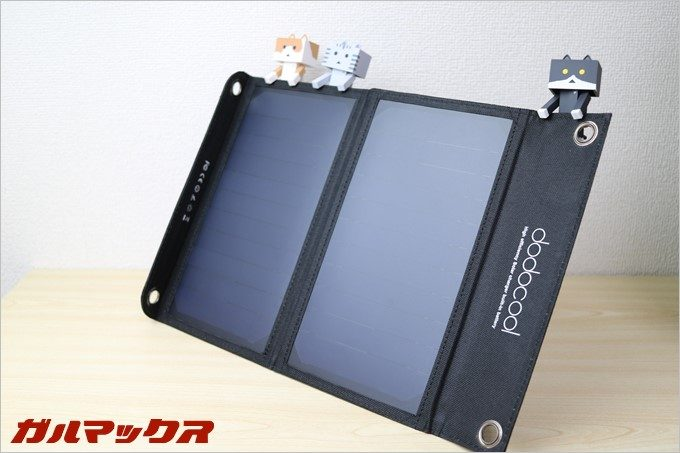 dodocoolのソーラー式モバイルバッテリー