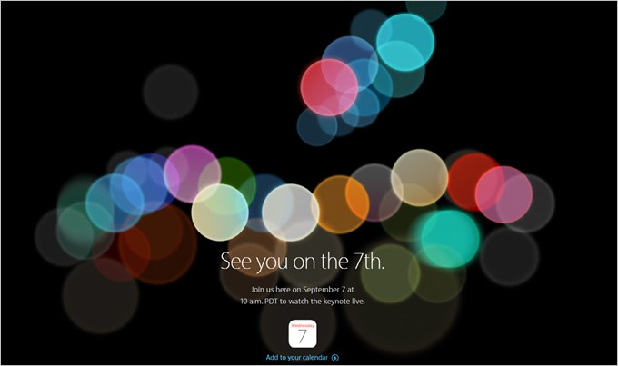 Apple-See you on the 7th