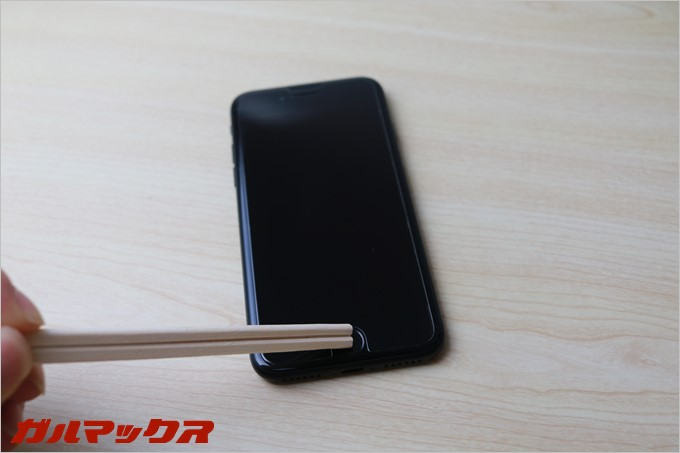 割り箸ではiPhone7のホームボタンは反応しませんでした。