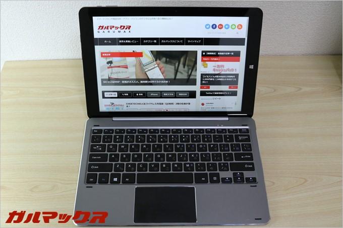 Chuwi Hi12とキーボードをドッキングすると完全にノートパソコンです