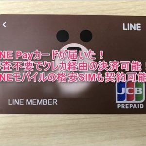 LINE Payカードは審査不要でクレカ経由決済可能