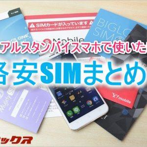DSDSスマホでオススメなデータ専用の格安SIMはこれ!