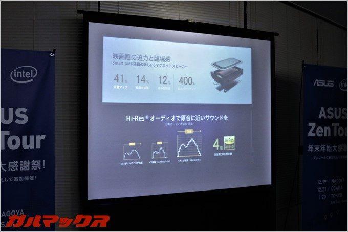 スピーカーにも拘り、Smart AMP搭載の5マグネットスピーカーを搭載。