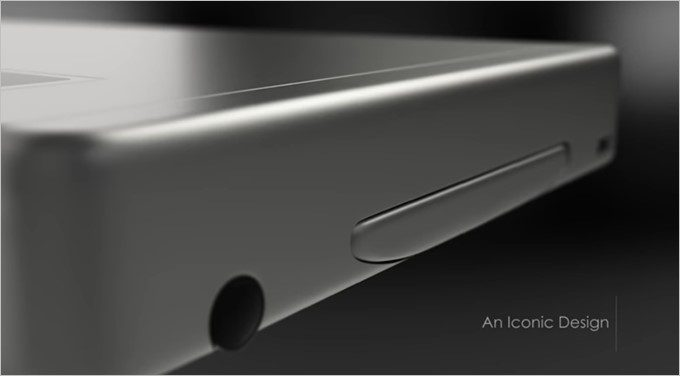 GraalPhoneの側面には何かが挿し込まれている。