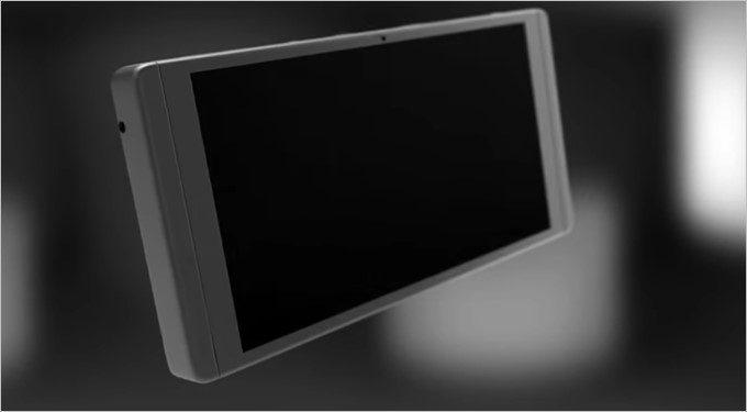 開いたディスプレイはスライド可能でタブレット形状になります。