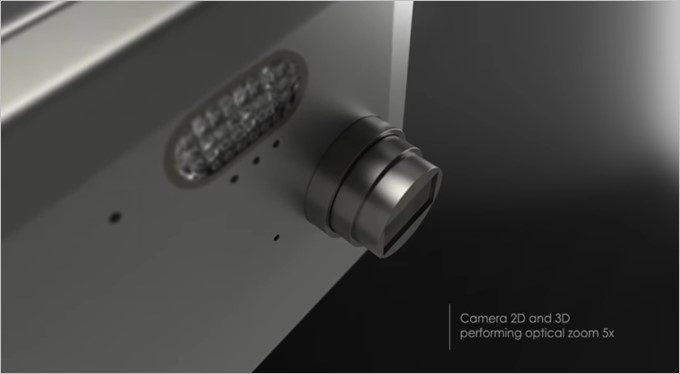 GraalPhoneには光学5倍の飛び出る本格的なズーム機構が備わっている!