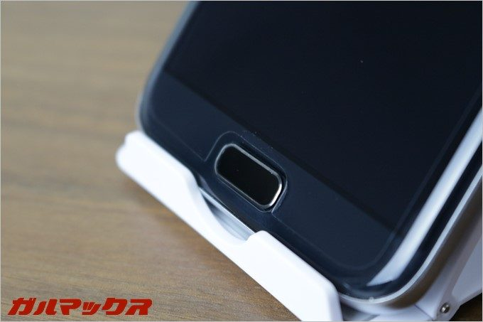 BLUBOO EdgeのホームボタンはiPhoneやGalaxyのように物理ボタンタイプです。