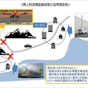 auが災害時に役立つ「空飛ぶドローン基地局」開発へ