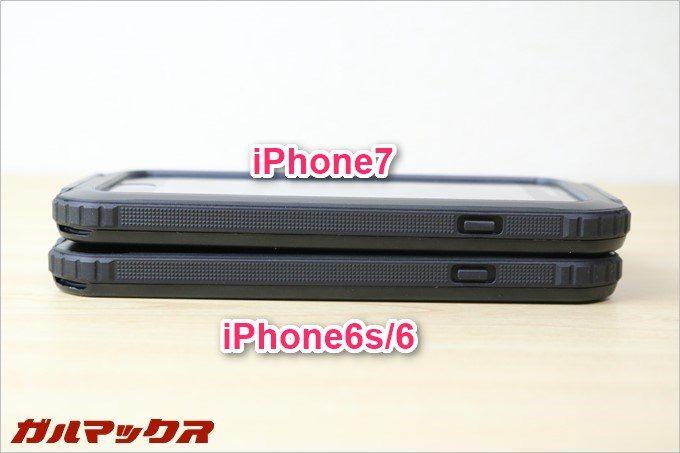 BESTEKの防水防塵iPhoneケースのボタンは押した感触がよくわかる。