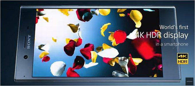 Xperia XZ Premiumは4K HDRディスプレイを備える