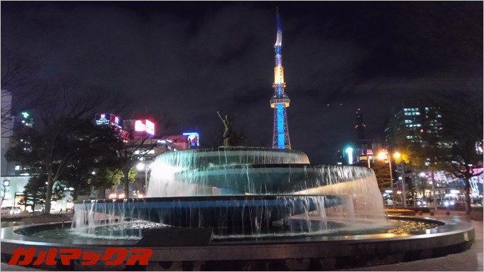 RAIJINの夜間撮影の水