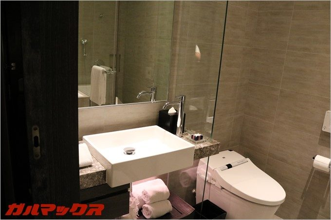 ハンブルハウス台北はさすが高級ホテル。水廻りも清潔そのものです。