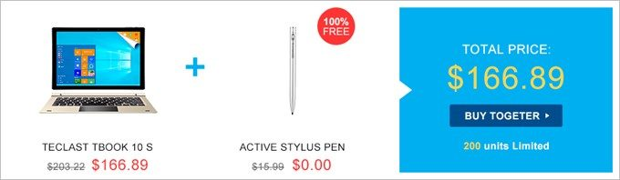 タブレットとスタイラスペンがセットでタブレット単体通常価格よりも安い!