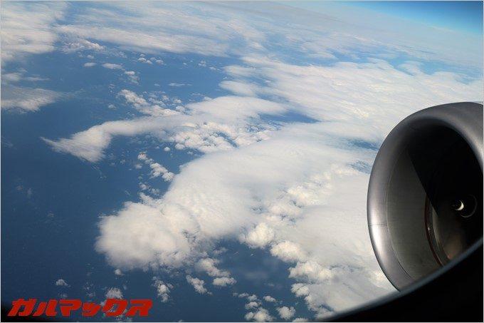 上空はかなり安定した飛行でした。