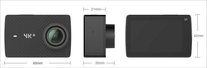 YI 4K+のサイズは従来のYI 4Kと同じサイズ。