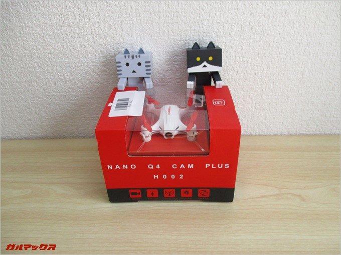 「NANO Q4 CAM PLUS H002」の同梱物をチェックしてみます