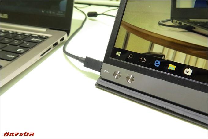 USBバスパワーで動くサブディスプレイ