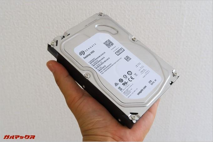 3TBのハードディスク