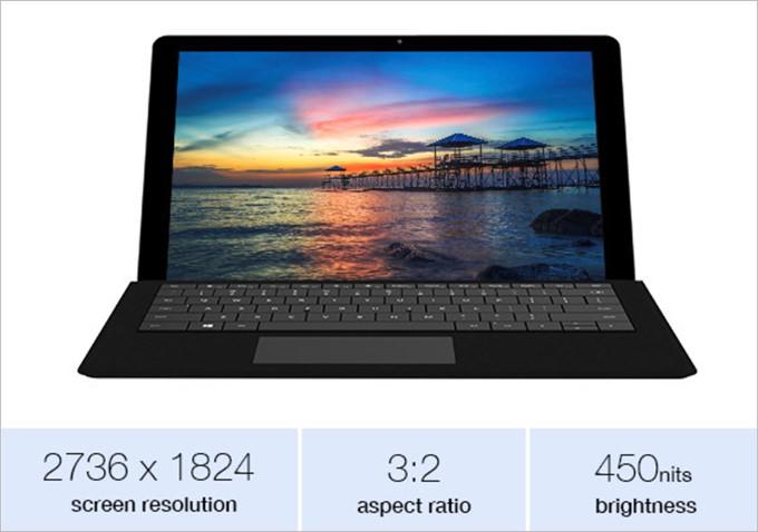 12.3型に2Kもの解像度を搭載したSurBook