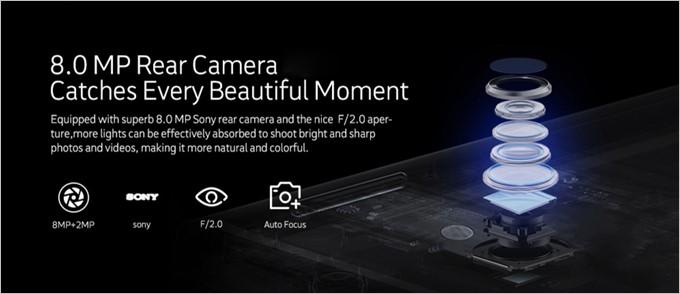 NOMU S30 Miniはメインカメラ800万画素とインカメラ200万画素で物足りない