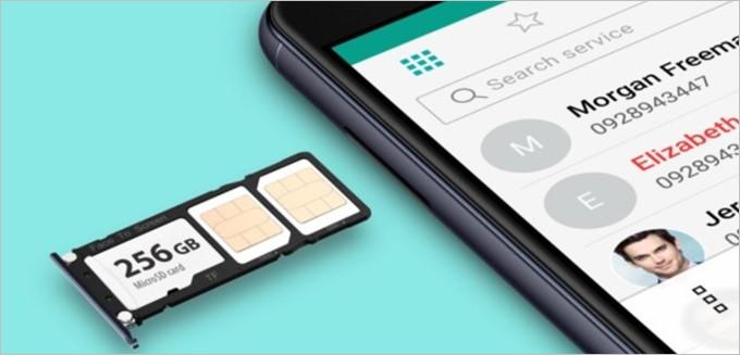 ZenFone 4 MaxのSIMトレイはNanoSIMが2枚、MicroSDが1枚、全て挿入できる