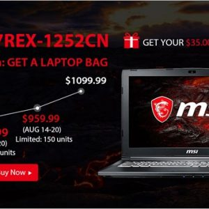 ゲーミングノートPC「MSI GL62M 7REX(通常約14万円)」がアクセサリー付きで10万切り
