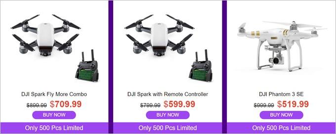 DJI Sparkも大幅値引き!