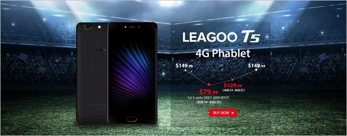 Leagoo T5が数量限定で79.99ドル
