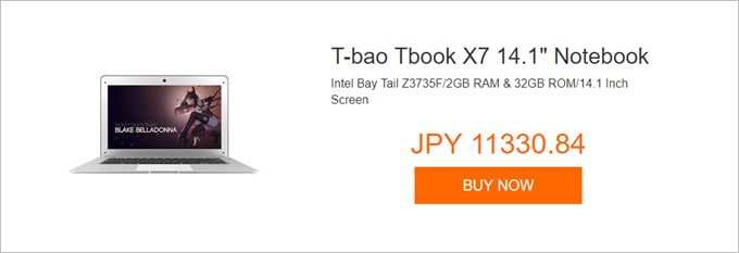 "T-bao Tbook X7 14.1"" Notebook"