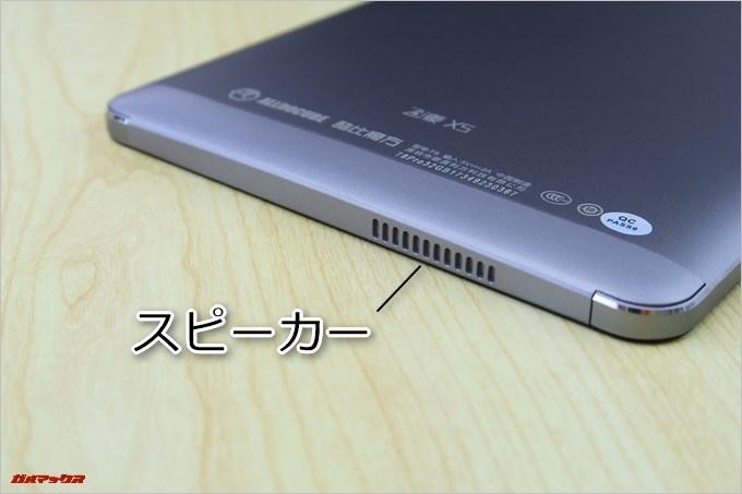 CUBE Free Young X5の本体底面にはスピーカーが備わっています。