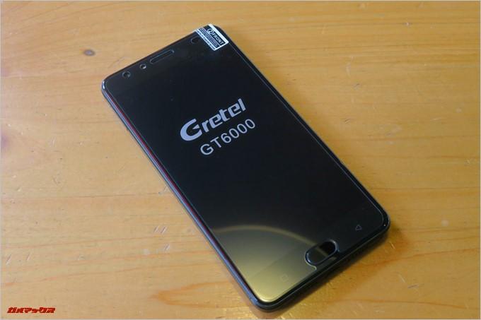 Gretel「GT6000」の指紋認証ユニットはホームボタン一体型でタッチセンサー式です。