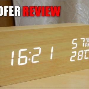 SOFERデジタル置き時計のレビュー!木目調のシンプルな卓上時計