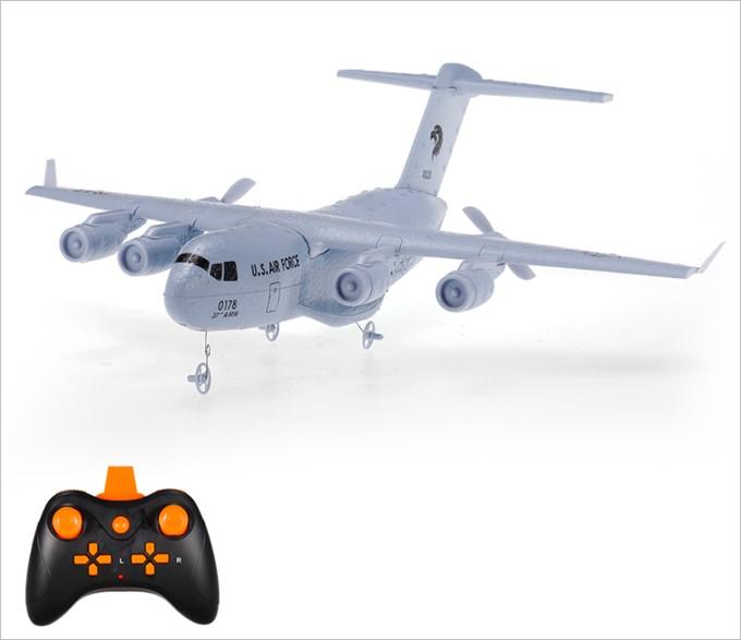 C-17トランスポート航空機のラジコンは高効率の空気流設計で安定性は折り紙付き!