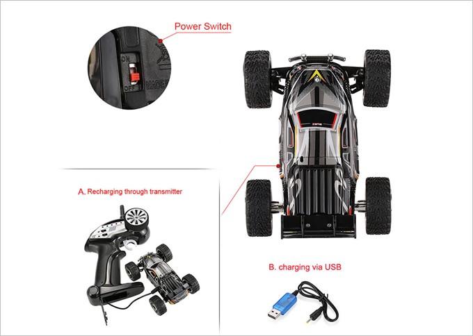 コントローラーと車両を接続して充電するので充電も超簡単。