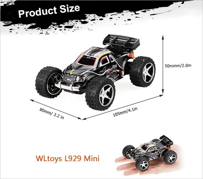 WLtoysは手のひらサイズでコンパクト!