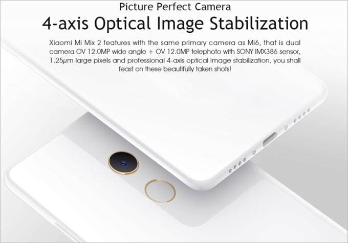 Xiaomi Mi Mix 2はXiaomi Mi6のメインカメラと同じカメラを採用しています