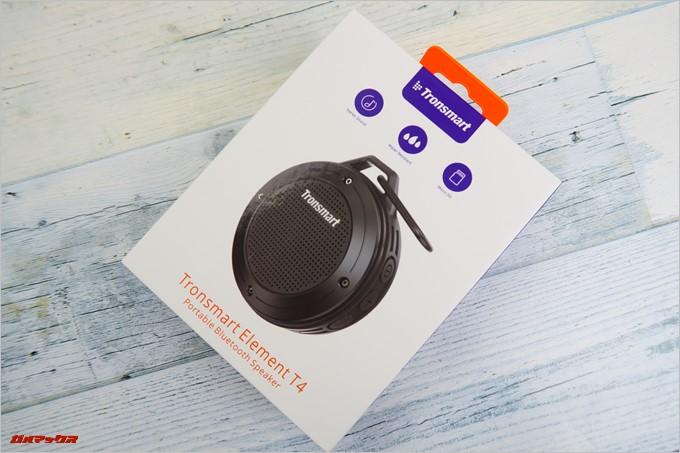 Tronsmart「T4」の外箱は紫とホワイトのTronsmartカラー