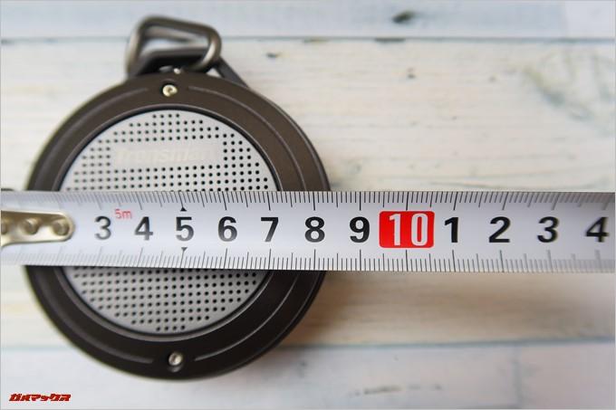 Tronsmart「T4」の横縦幅は8.5cmの円形です