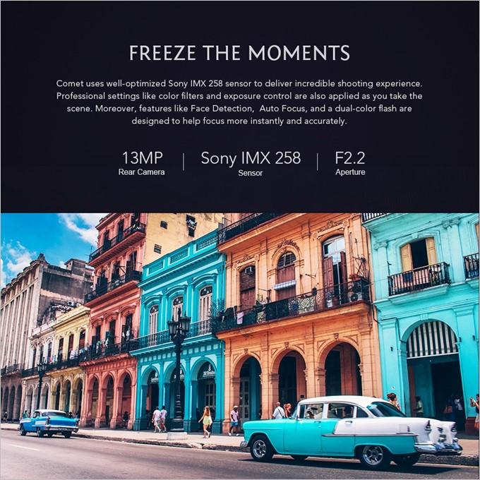 MAZE COMETのメインカメラはSonyのIMX258を採用