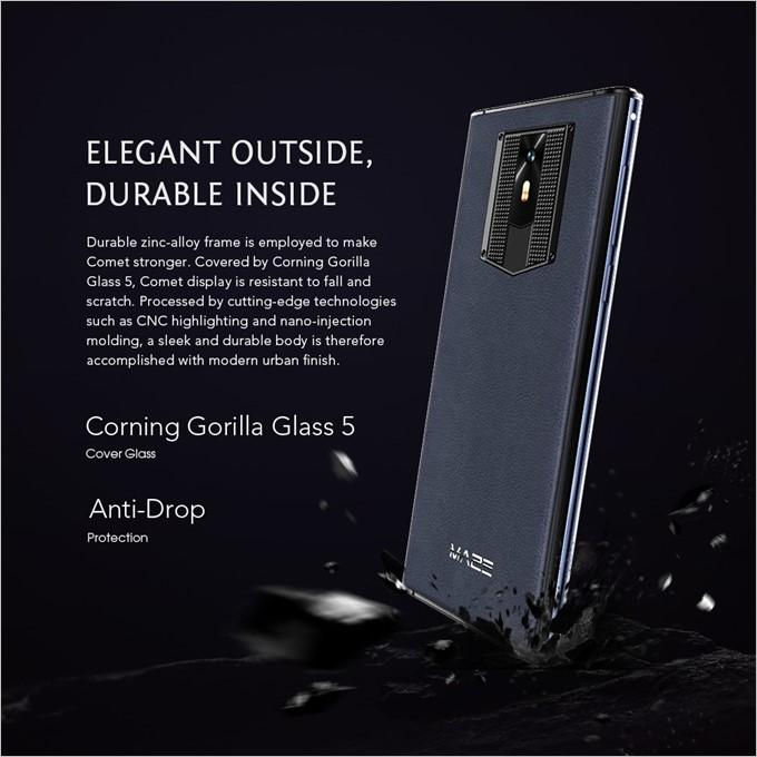 MAZE COMETは強化ガラスのGorilla Glass 5を採用しています