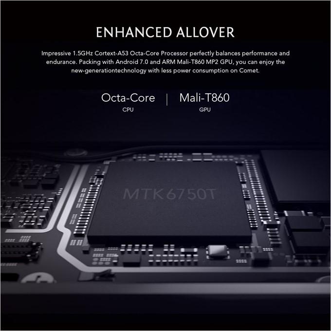 MAZE COMETはパワフルなMT6750Tを採用しています。
