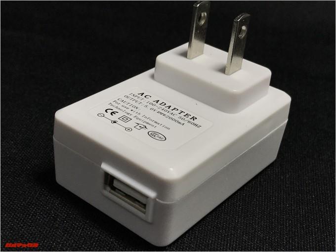 LEAGOO KIICAA POWERは販売店さんが独自に日本仕様の充電器も付けてくれます