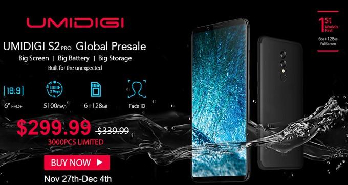 UMIDIGI S2 Proが発売記念キャンペーンで33447円