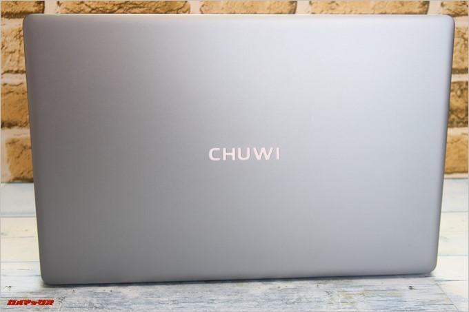 Chuwi LapBook AIRの天板ロゴは電源オン時は淡く光ります