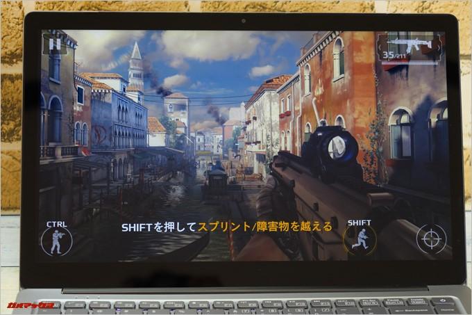 Chuwi LapBook AIRはモダンコンバット5も設定を少し下げれば快適に遊べます