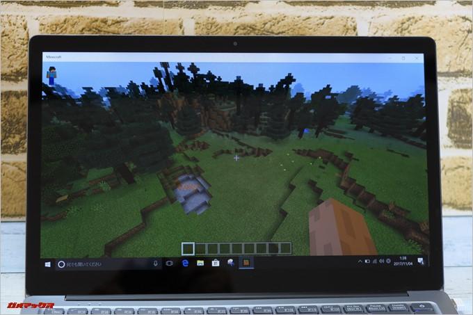 Chuwi LapBook AIRはMicrosoftストアで配信されているWindows10版のMinecraftが快適に動きます