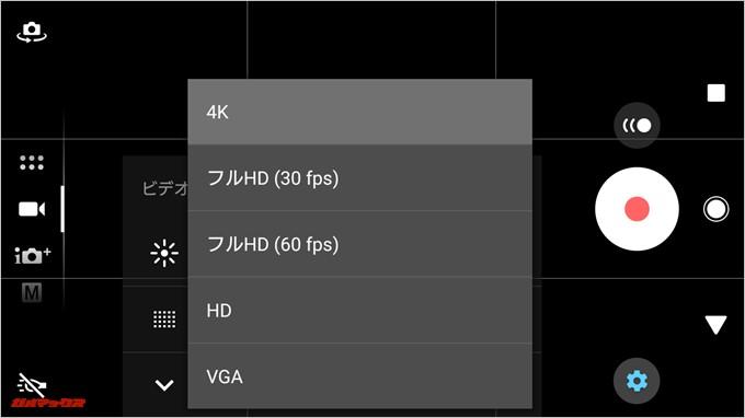 Xperia XZ1 Compact(G8441)の4K撮影時は機能制限ありです